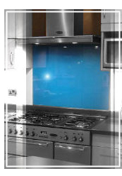 glass splashback, ionian